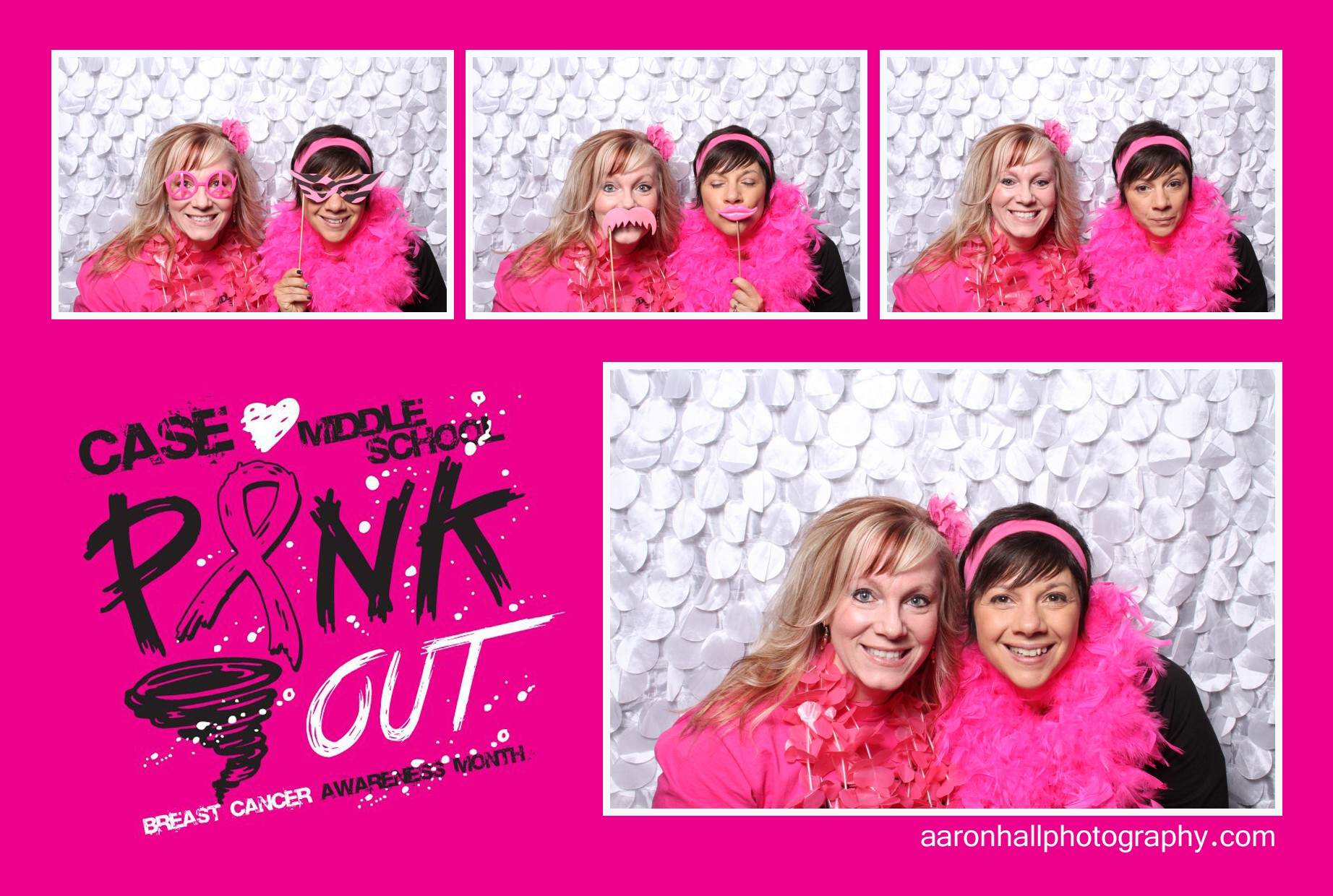 Photo Booth Case Middle School Watertown NY Pink