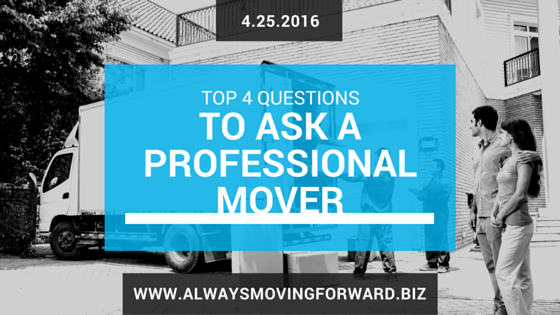 questions to ask a professional mover