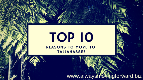 the top ten reasons to move to tallahassee