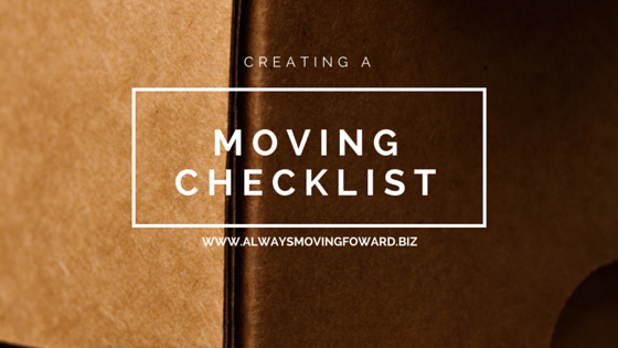 creating a moving checklist