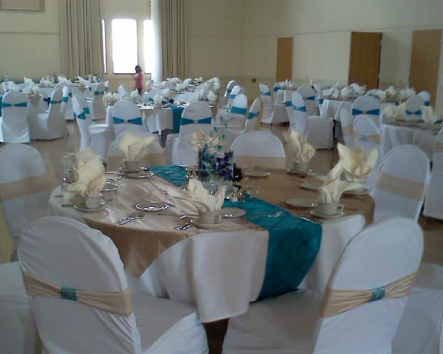 wedding chair covers, Wedding table runners, bands