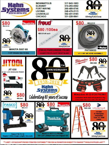 80th Anniversary Flyer