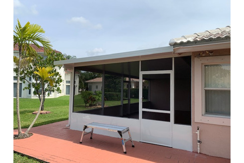 Aluminum Roof with Patio Enclosure