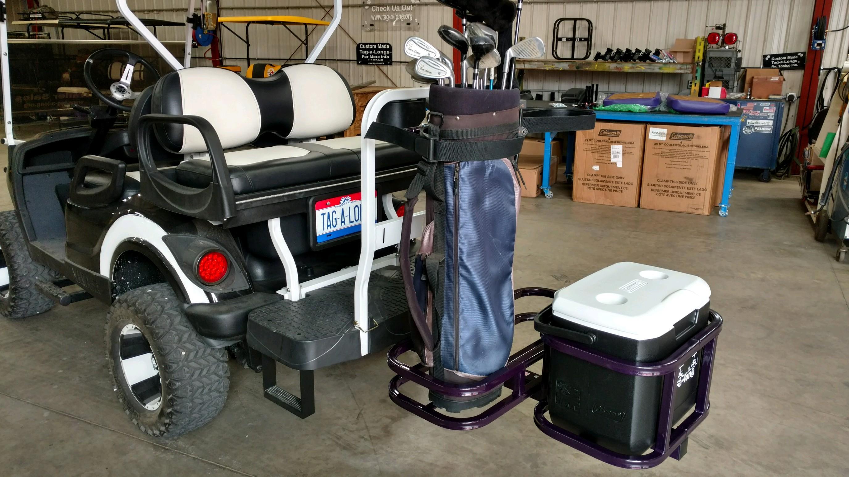 Dual (2-bag) Golf Bag Holder and cooler carrier
