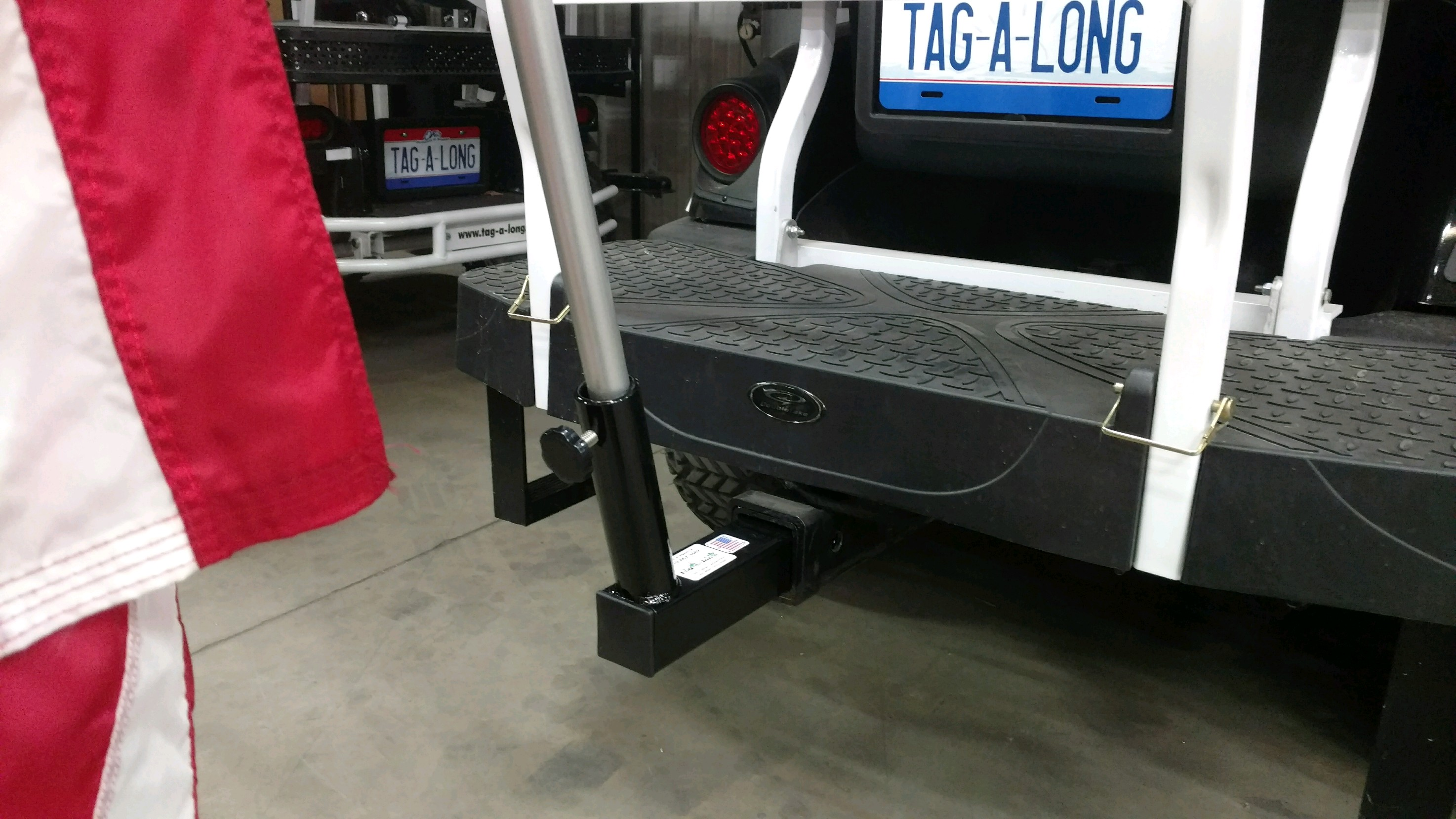 "2"" Hitch Receiver with flag poles"