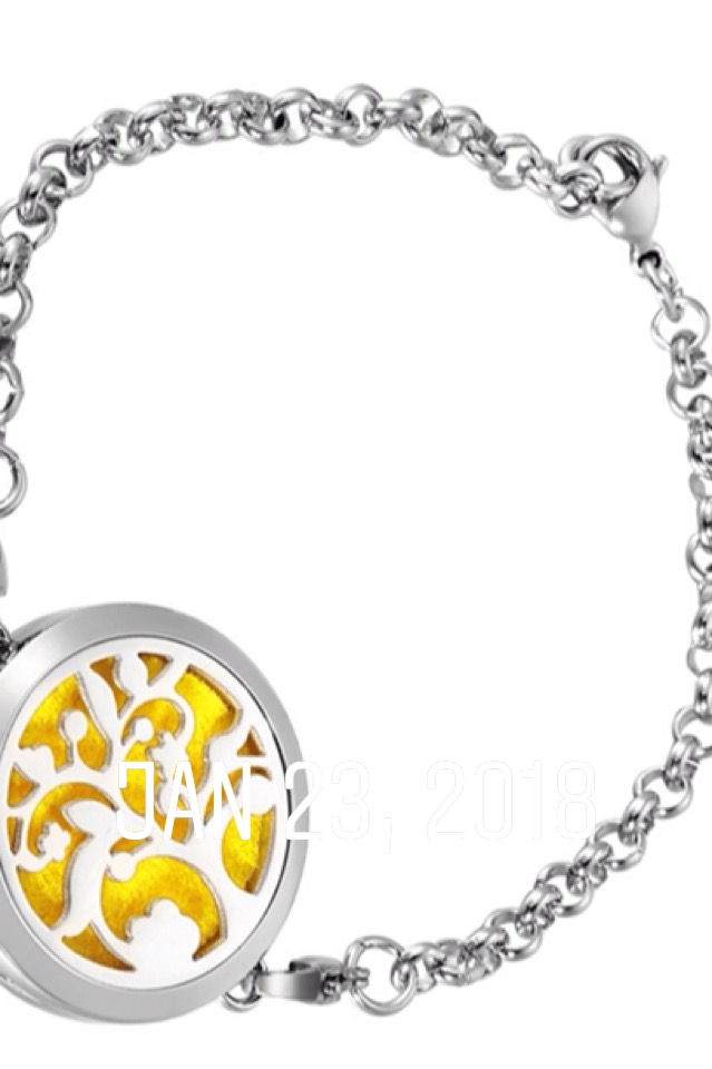 Tree of Life fragrance diffuser bracelet