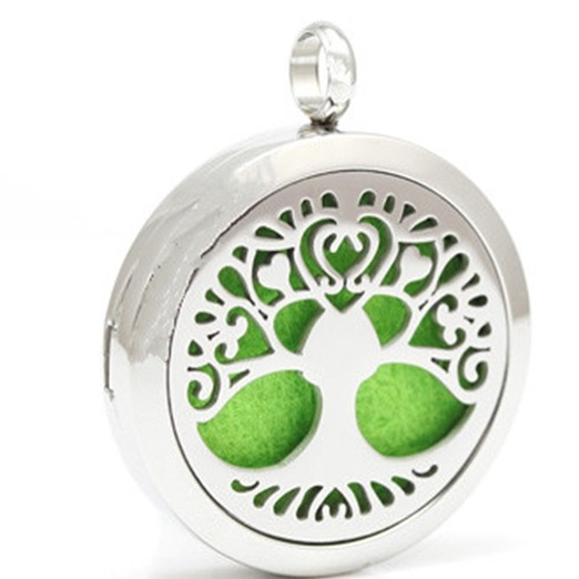 Stainless steel fragrance diffuser necklace