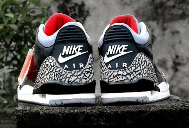 "JORDAN RETRO 3 "" BLACK CEMENT"""