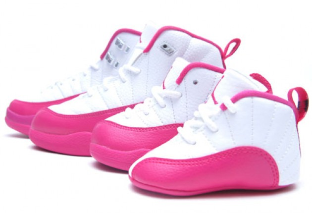 019c2668b618eb air jordan retro 12 kids pink