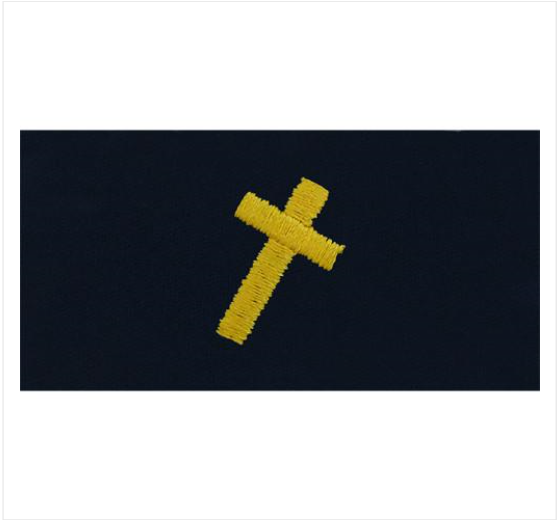 Lapel Embroidered Chaplain Christian Device