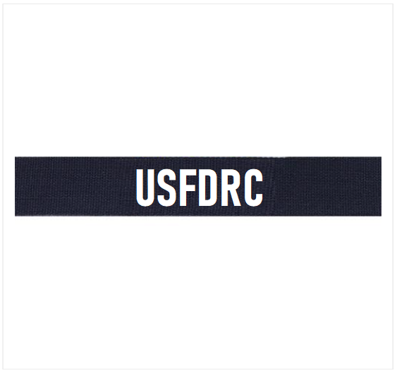 Reservist's Utility Tactical Uniform (UTU) Embroidered (White) USFDRC Tag
