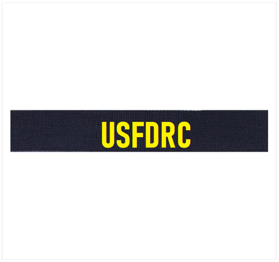 Officer Utility Tactical Uniform (UTU) Officer Embroidered (Gold) USFDRC Tag