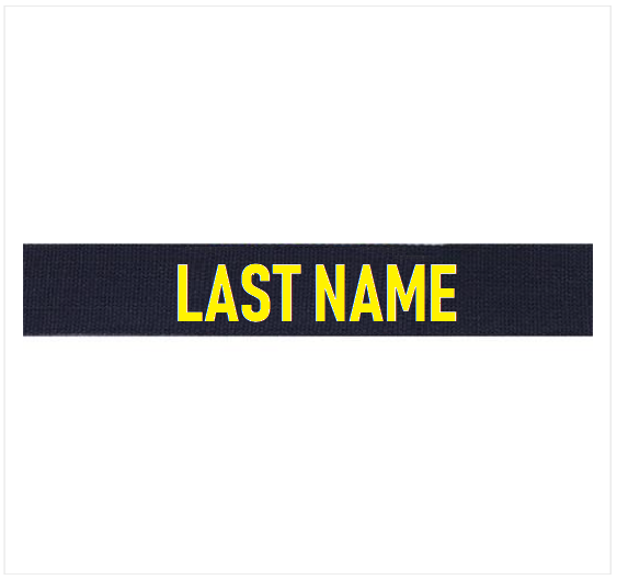 Officer Utility Tactical Uniform (UTU) Officer Embroidered (Gold) Name Tag *