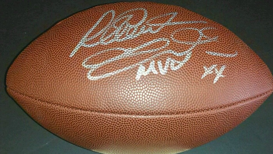 RICHARD DENT SIGNED WILSON NFL FOOTBALL