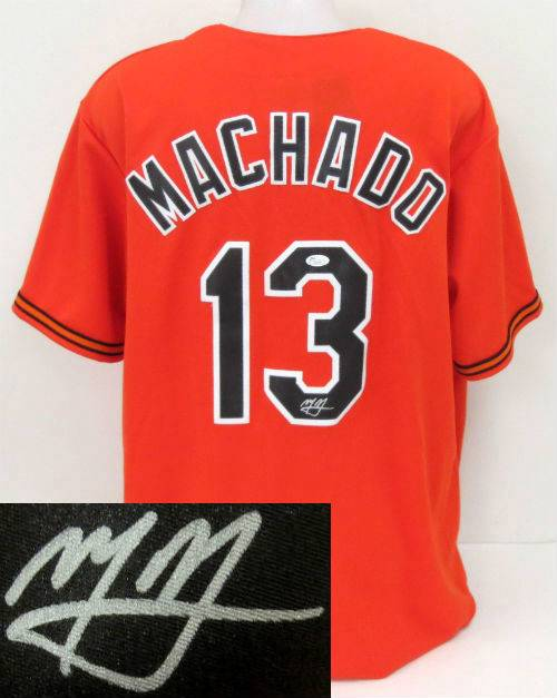 Manny Machado signed Jersey (Orange)