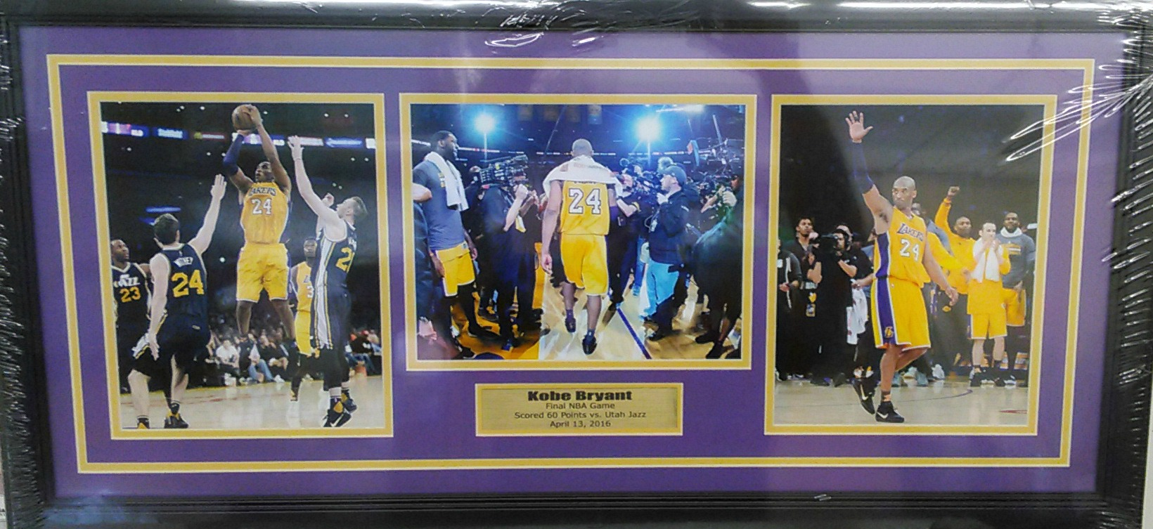 Kobe Bryant Last Game collage