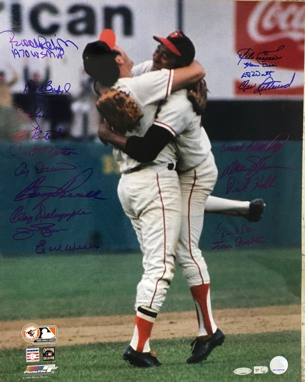 "1970 World Series Team signed 16x20 ""Last Out"""