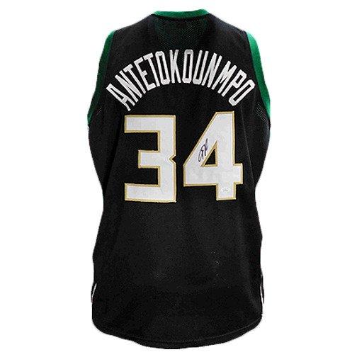 Giannis Antetokounmpo signed Milwaukee Bucks Jersey (JSA)