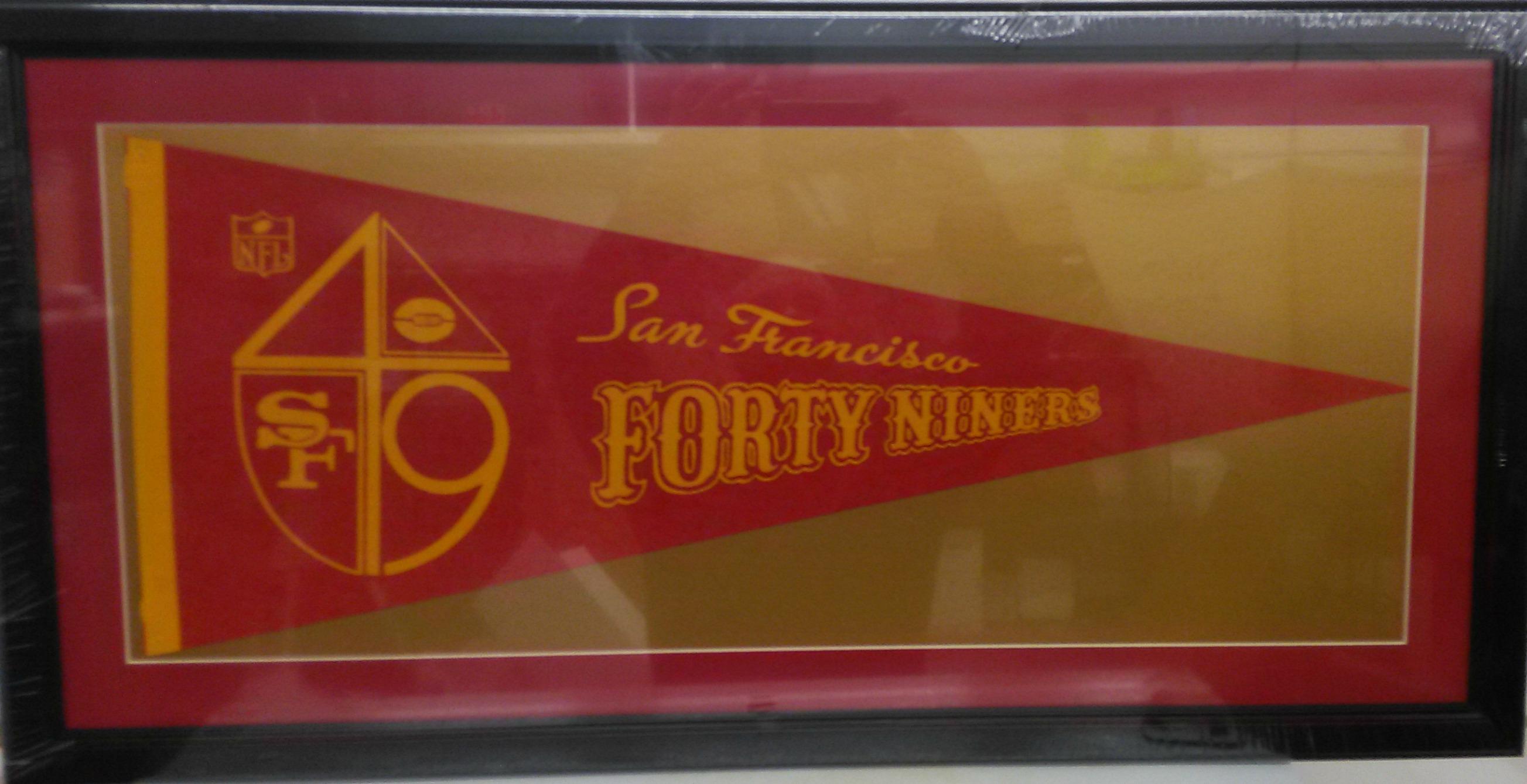 San Francisco 49ers vintage pennant (custom matted & framed)