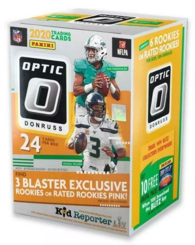 2020 Panini Donruss Optic NFL Football Blaster Box Factory Sealed