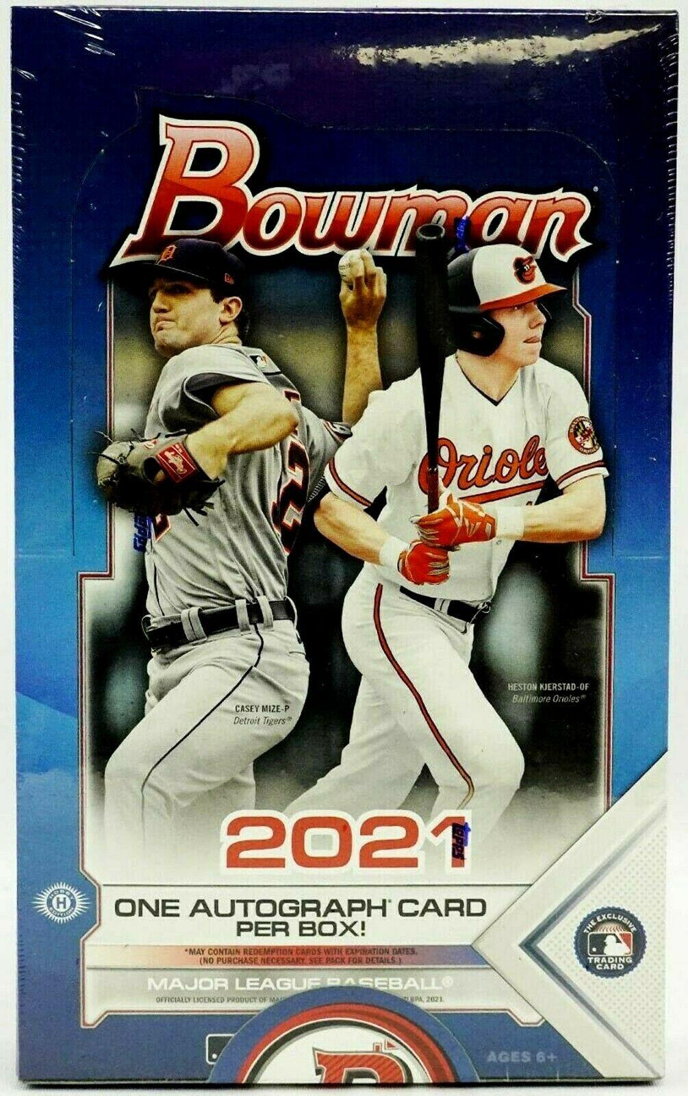 2021 Bowman Baseball Factory Sealed Hobby Box