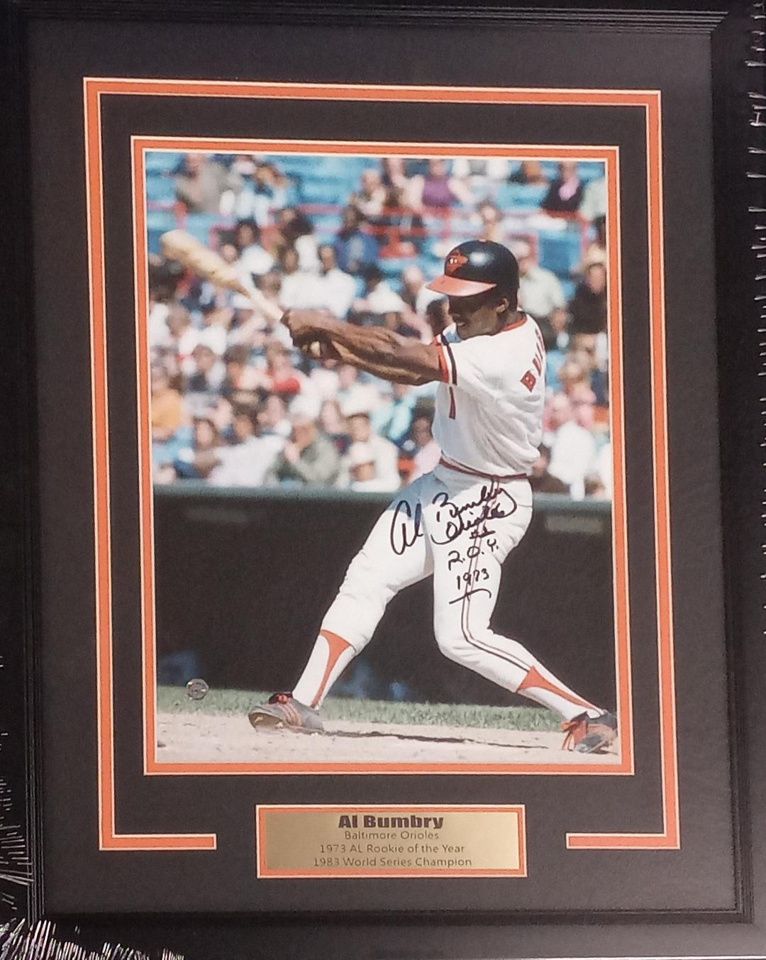 AL BUMBRY SIGNED 11X14 CUSTOM FRAMED