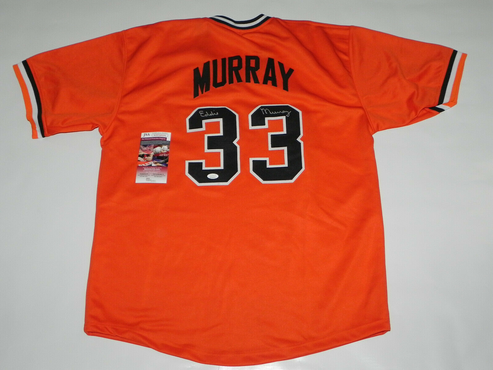 EDDIE MURRAY SIGNED BALTIMORE ORIOLES  JERSEY
