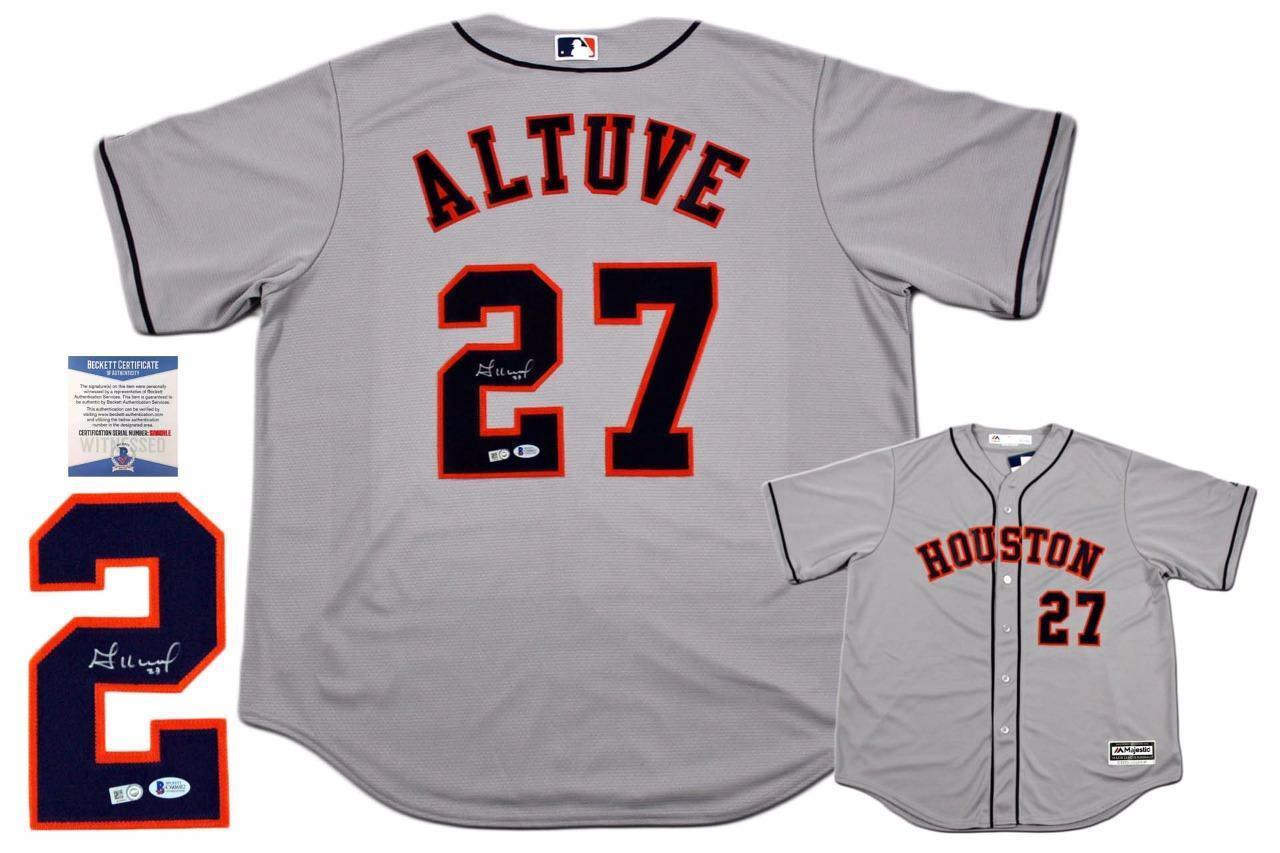 Jose Altuve Autographed Signed Houston Astros Majestic Jersey - MLB Authentic (online only)