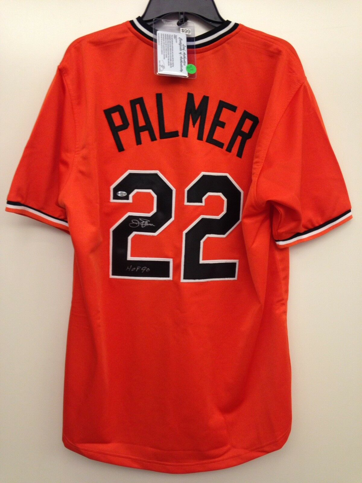 JIM PALMER SIGNED BALTIMORE ORIOLES JERSEY
