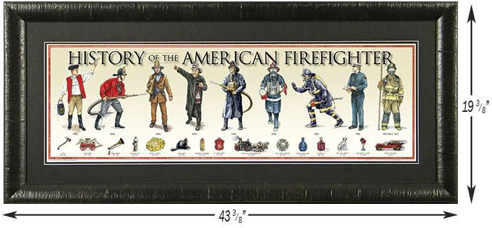 History of the American Firefighter Custom Framed