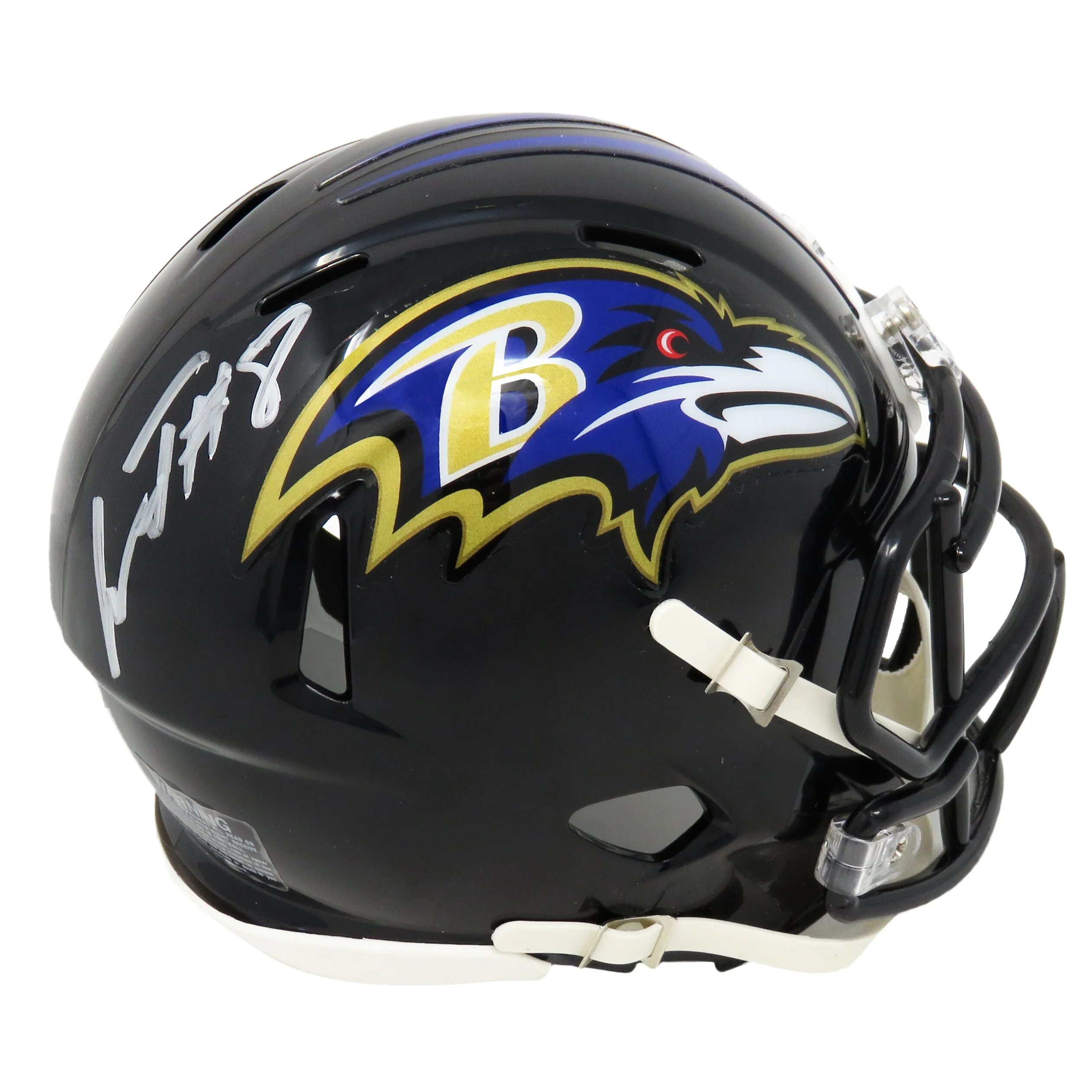 Lamar Jackson signed Riddell Speed Mini Helmet