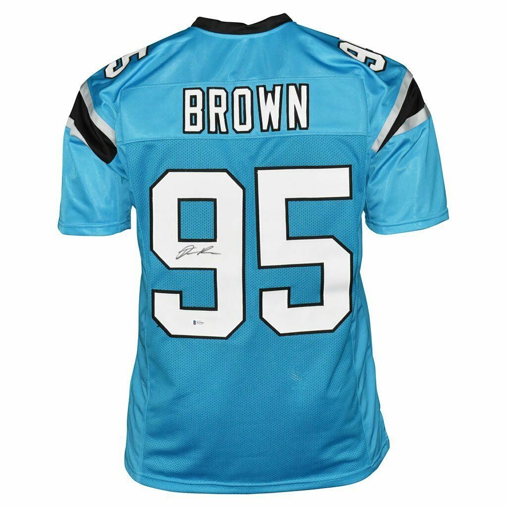 DERRICK BROWN SIGNED PANTHERS JERSEY