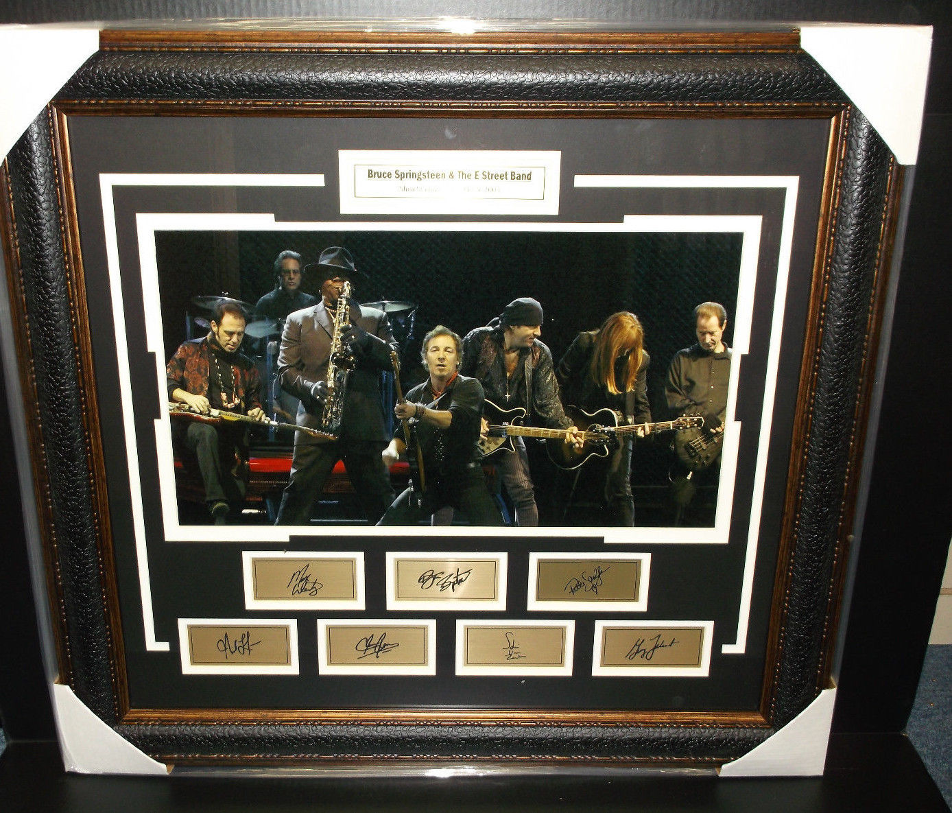 Bruce Springsteen and the E Street Band 16x20 w/ laser engraved signatures