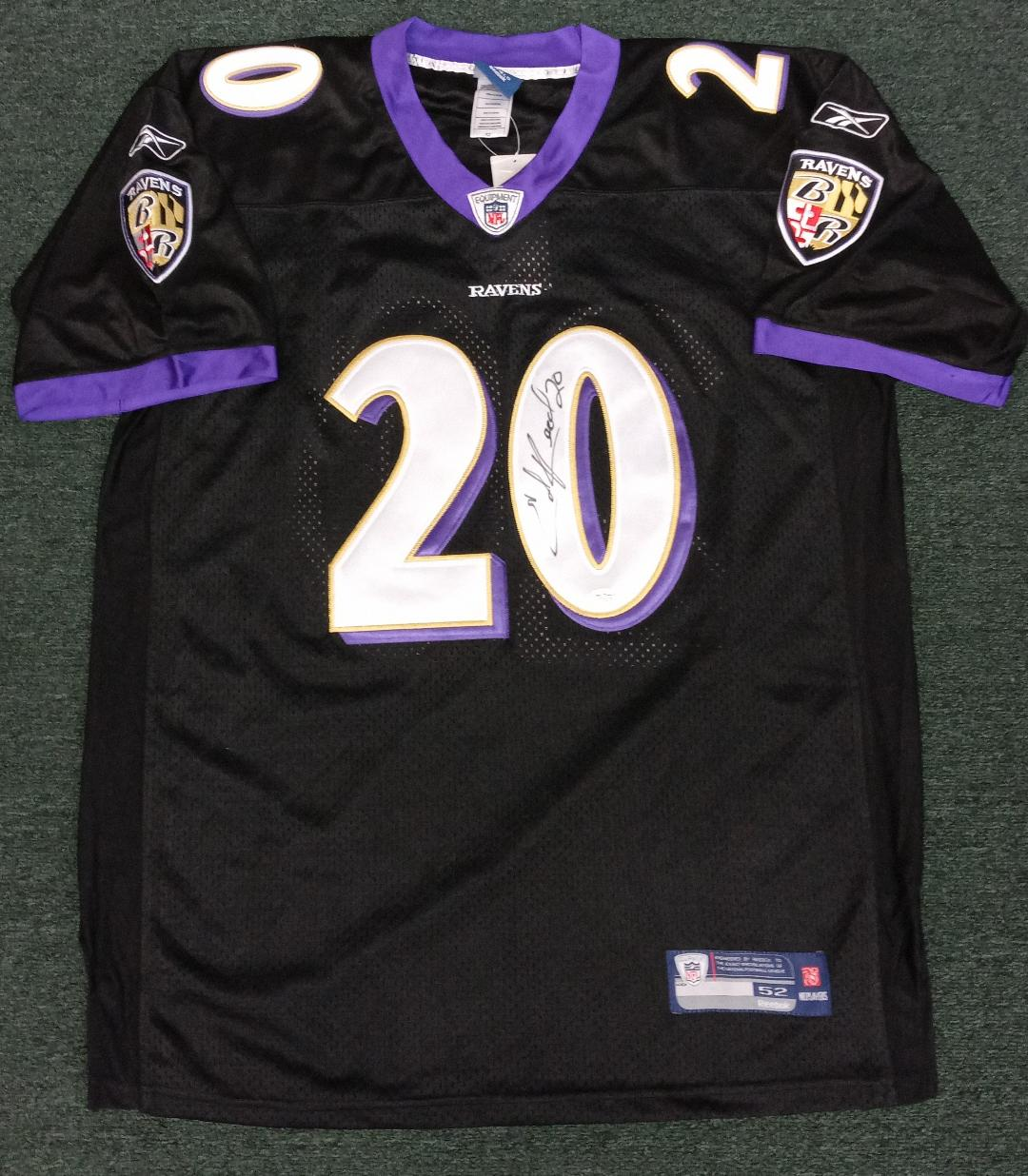 ED REED SIGNED RAVENS JERSEY