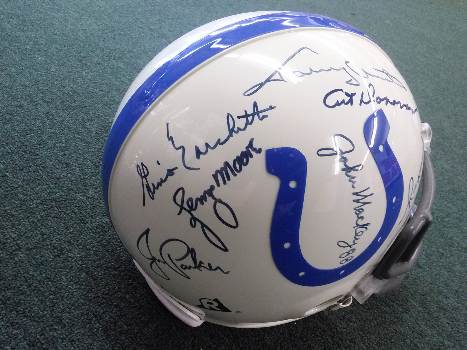 Baltimore Colts 7 Hall of Famer signed On-Field Full Size Helmet COA/Show ticket
