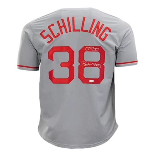 "CURT SCHILLING SIGNED ""BOSTON STRONG"" JERSEY"