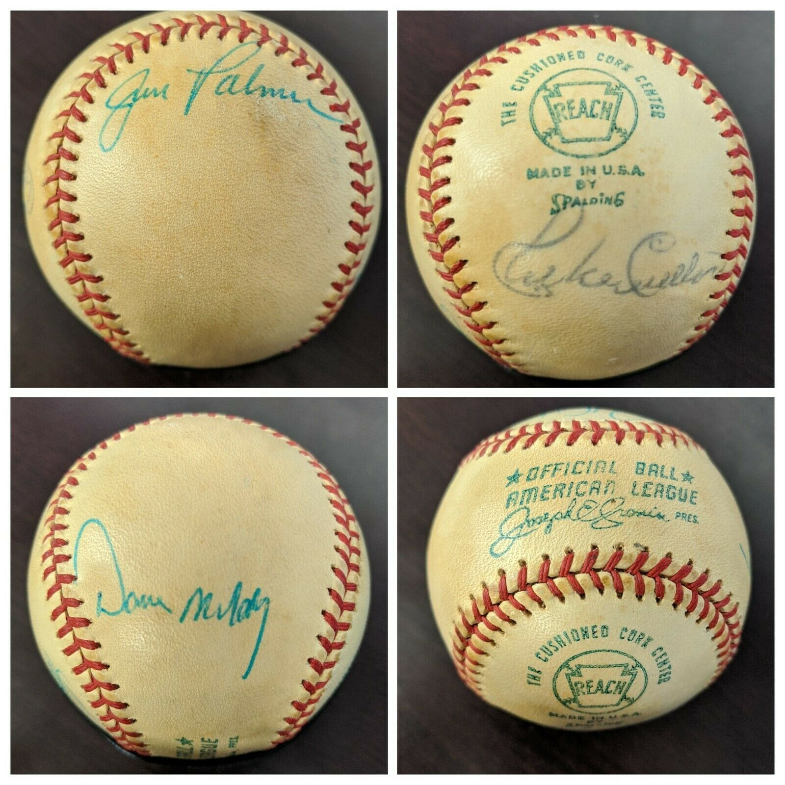 BALTIMORE ORIOLES FOUR 20 GAME WINNERS SIGNED BASEBALL