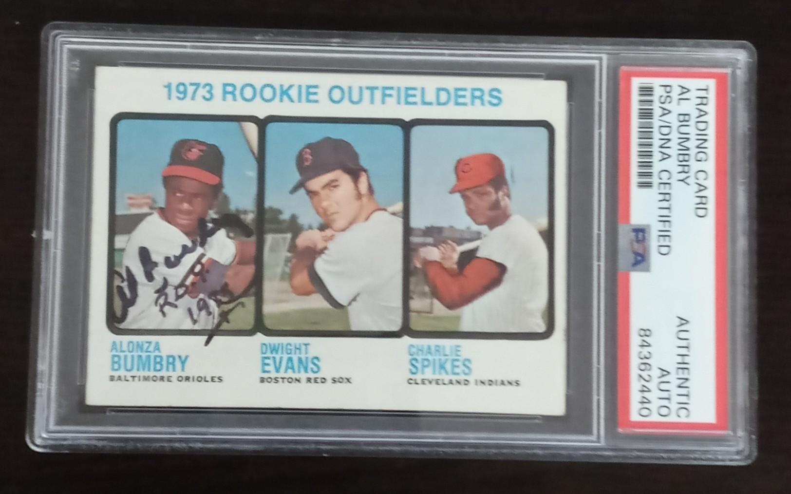 AL BUMBRY SIGNED 1973 TOPPS ROOKIE CARD