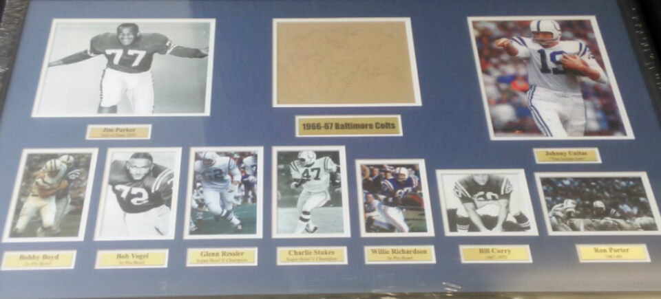 1966-67 Baltimore Colts Multii signed Collage (JSA)
