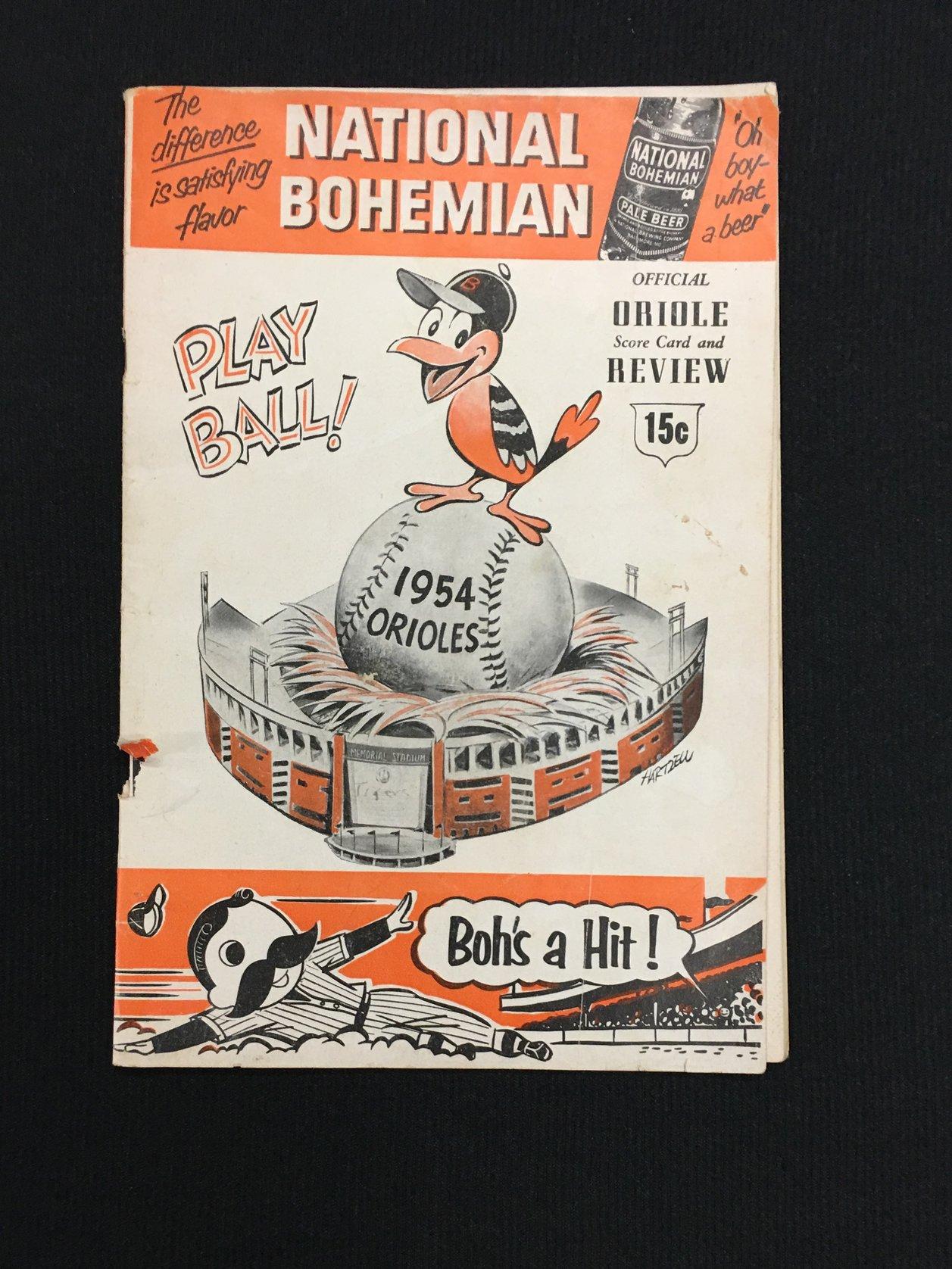 1954 1st season Orioles Program
