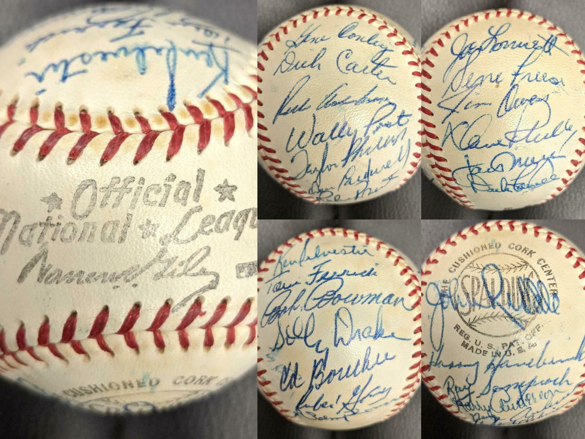 1959 PHILADELPHIA PHILLIES TEAM SIGNED BASEBALL