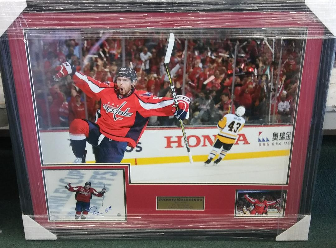 "EVGENY KUZNETSOV  SIGNED  ""BIRD WALK"" COLLAGE 31X35"