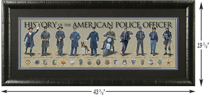 History of the American Police Officer Custom Framed