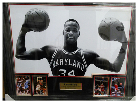 Len Bias Maryland Terrapins Career Collage