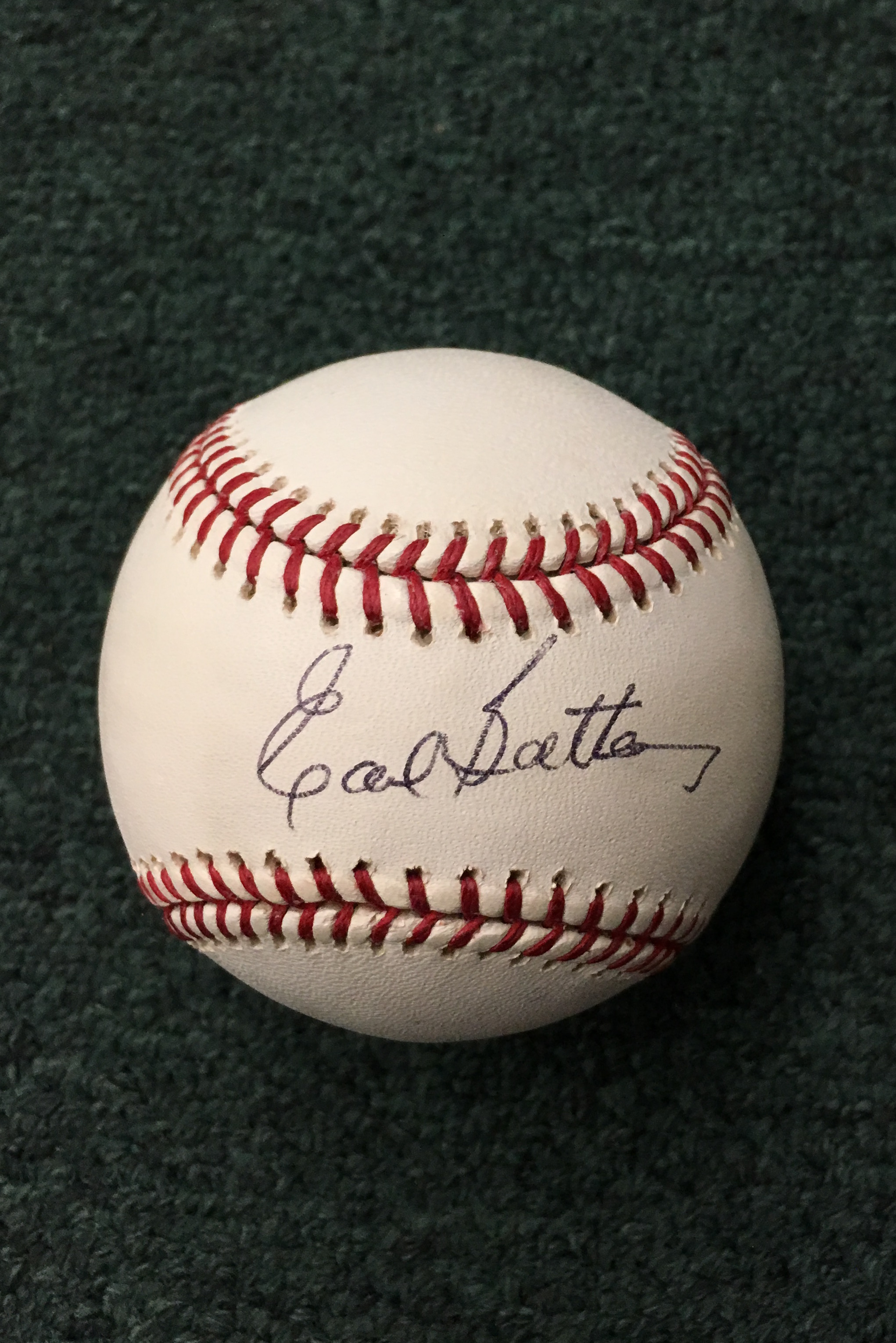 Earl Battey signed baseball