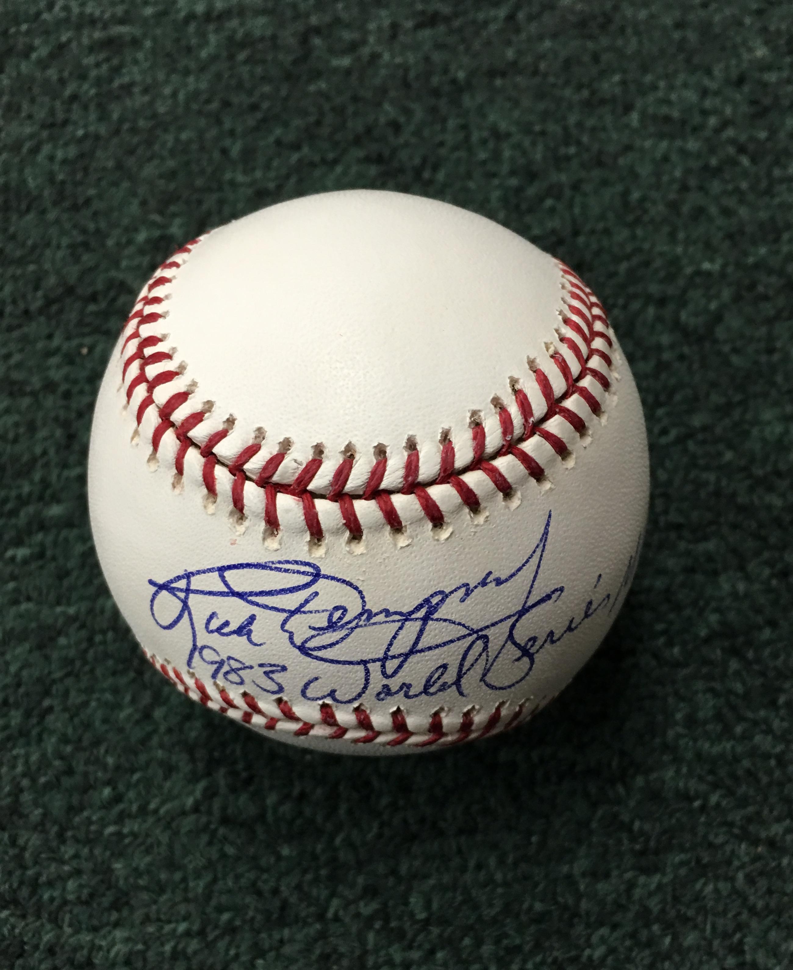 Rick Dempsey autographed baseball