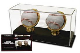 Deluxe Acrylic Double Gold Glove Baseball Display