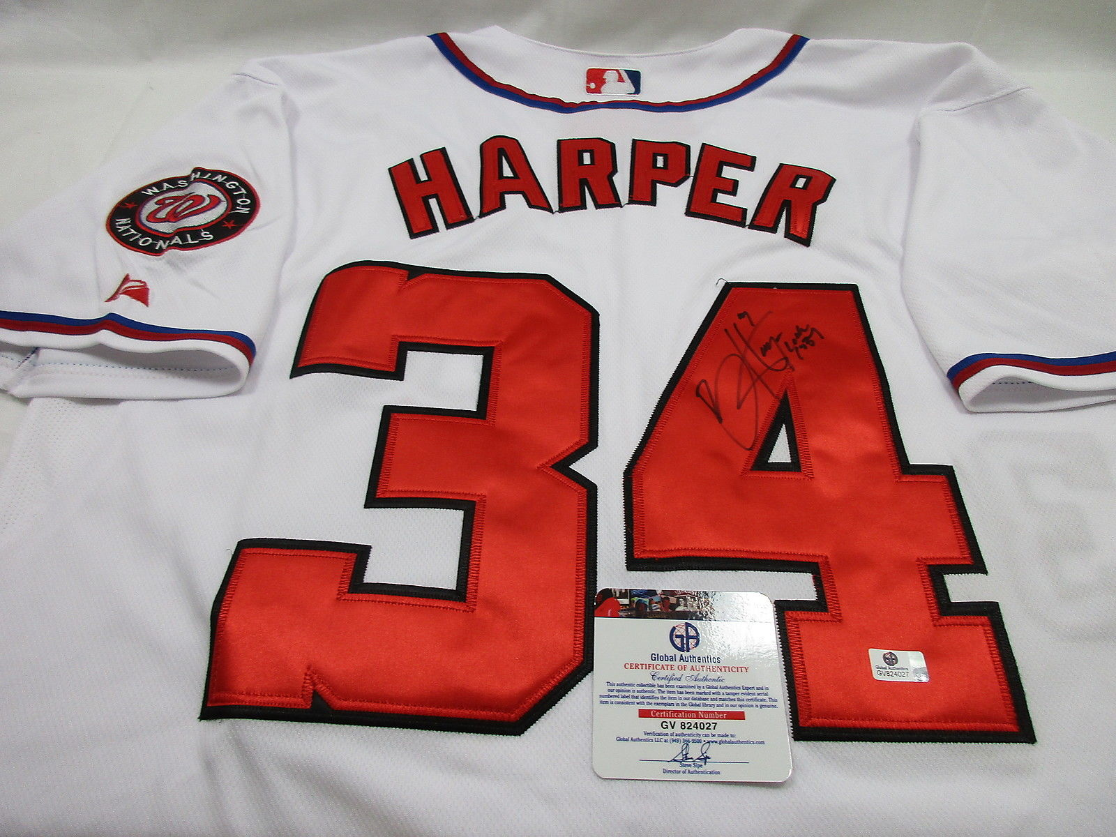 Bryce Harper signed Washngton Nationals Jersey