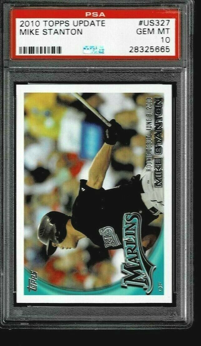 2010 Topps Update #US327 Mike Giancarlo Stanton Rookie Card PSA 10
