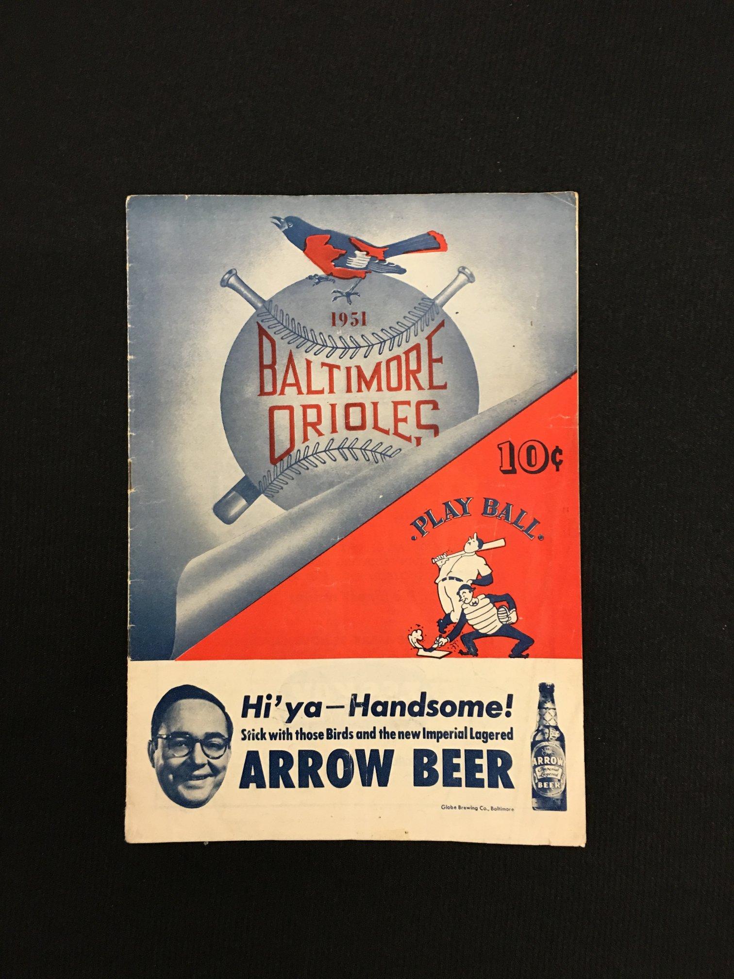 1951 Baltimore Orioles Program (International League)